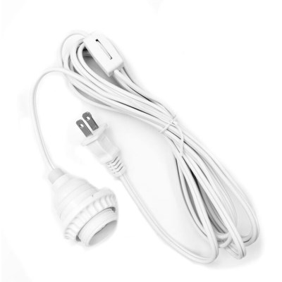 White Drop Light - 10ft cord - on / off switch