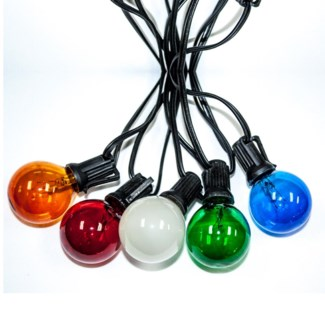 25ft w/ 24 lights - multi color bulbs - Party Light Strings