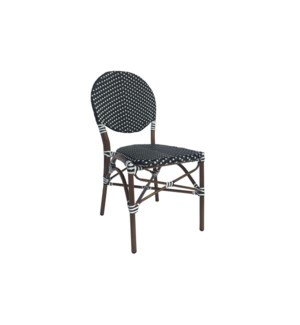 Black & White Café Bistro Chair
