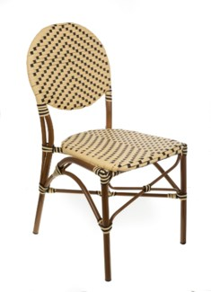 Cream & Black Café Bistro Chair