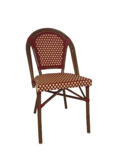 Original Red & Cream Café Bistro Chair