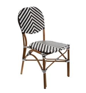 Black & White Café Bistro Chair