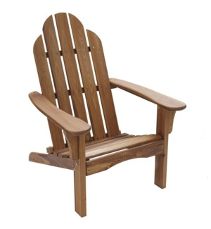 Brown Folding Wood Adirondack Chair