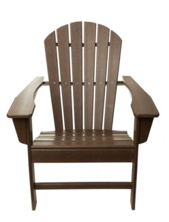 Brown Commercial Grade Poly HPDE Folding Adirondack Chair