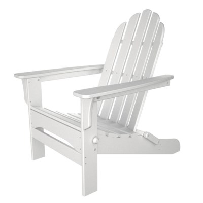 White Folding Wood Adirondack Chair
