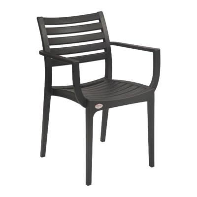 Black Commercial Grade Armrest Chair