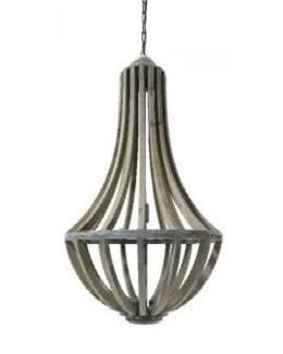 Hanging Wood Lamp Pendant