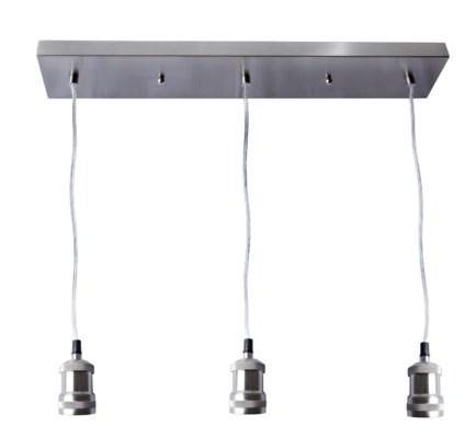 Ceiling 3 Nickel Light Fixture