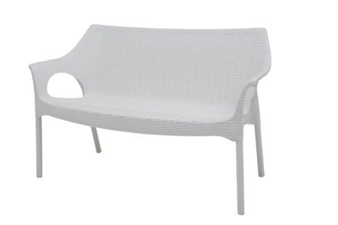 White Commercial Grade Loveseat