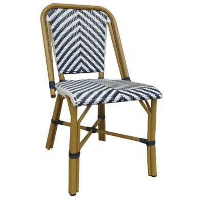 Navy & White - Modern Cafe Bistro Chair