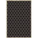 Quaterfoil Design- Size Rug: 4ft x 6ft black & white