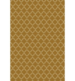 Quaterfoil Design- Size Rug: 2ft x 3ft brown & white