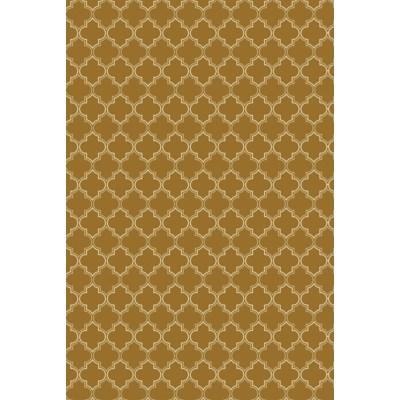 Quaterfoil Design- Size Rug: 2ft x 3ft brown & white