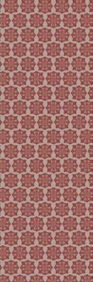 Modern European Design - Size Rug: 2ft x 6ft red & white
