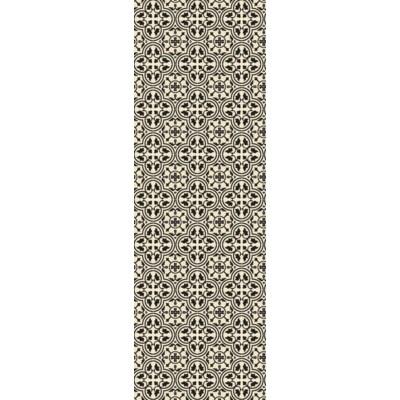 Quad European Design - Size Rug: 2ft x 6ft Black & White