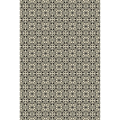 Quad European Design - Size Rug: 4ft x 6ft Black & White