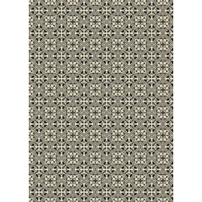 Quad European Design - Size Rug: 5ft x 7ft Black & White