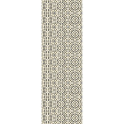 Quad European Design - Size Rug: 2ft x 6ft grey & white