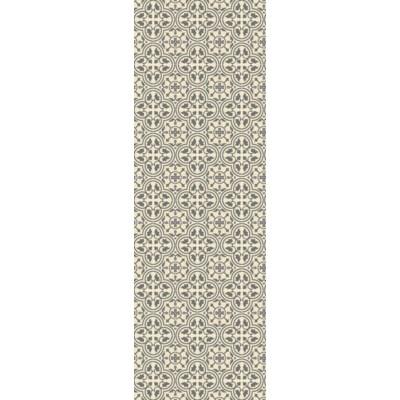 Quad European Design - Size Rug: 2ft x 6ft grey & white