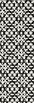 Ring of European Design - Size Rug: 2ft x 6ft black & white
