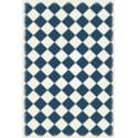 Diamond European Design - Size Rug: 4ft x 6ft blue & white colors