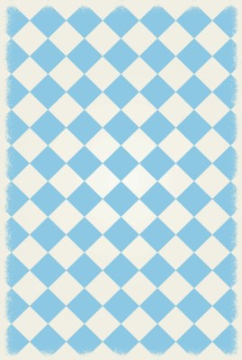 Diamond European Design - Size Rug: 4ft x 6ft light blue & white colors