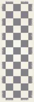 English Checker Design - Size Rug: 2ft x 6ft green & white colors