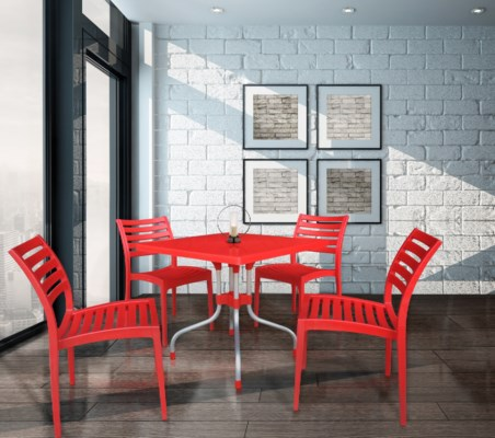 Red Square Commercial Grade Table
