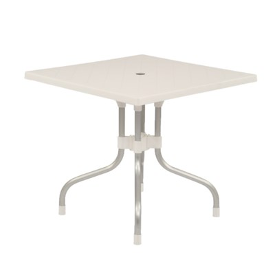 White Square Shape Commercial Grade Table