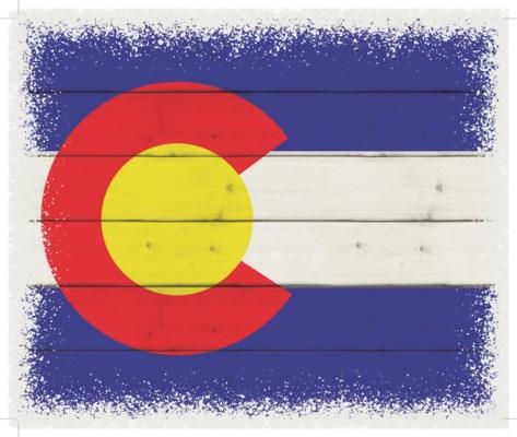 """Colorado Flag - White background 10"""" x 12"""""""