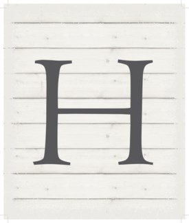 "Letter H - White background 10"" x 12"""