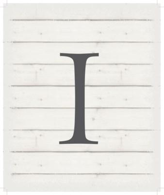 """Letter I - White background 10"""" x 12"""""""