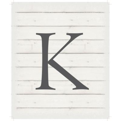 """Letter K - White background 10"""" x 12"""""""