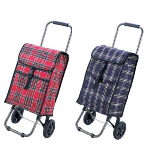 Medium Fabric Shopping Cart (6) 2 Styles Assorted