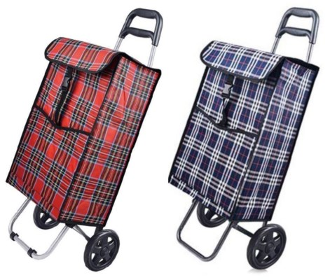 Large Fabric Shopping Cart (6) 2 Styles Assorted