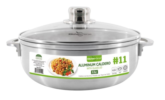 #11,  Alu. caldero with glass lid (6)