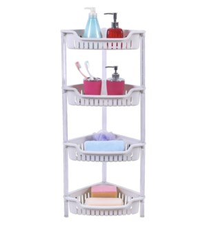 White - 4 Tier Corner Shelf (6)