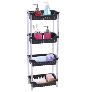 Black - 4 Tier Rectangular Shelf (6)