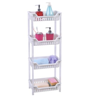 White - 4 Tier rectangular Shelf (6)