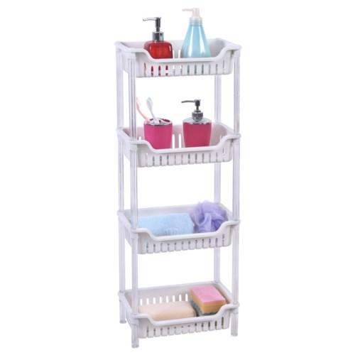 White - 4 Tier rectangular Shelf (6)