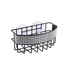 Black - Sink Caddy with Diamond Deco. Rim (24)