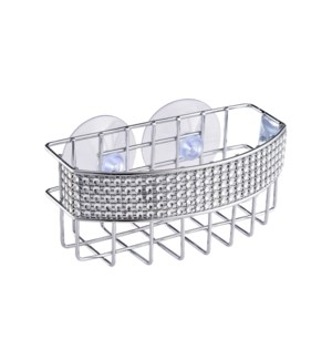 Chrome - Sink Caddy with Diamond Deco. Rim (24)