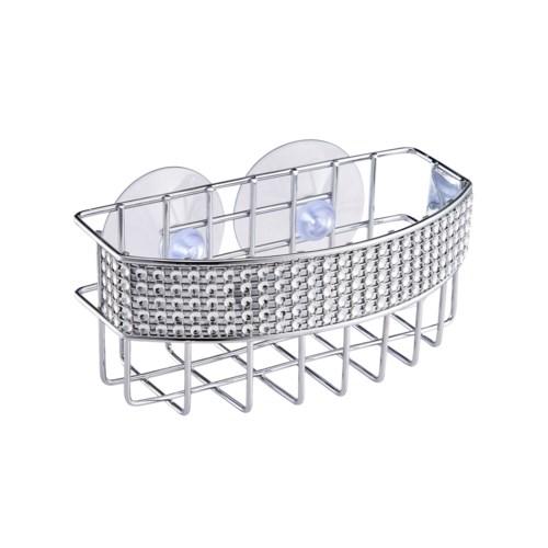 Chrome - Sink Caddy with Diamond Deco. Rim (24)