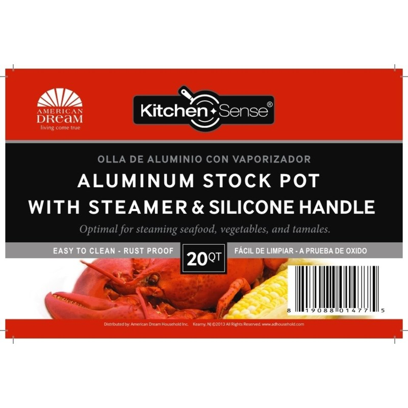 Alu.Stock Pot Set with Steamer & Silicone Handle ( 1 Set )