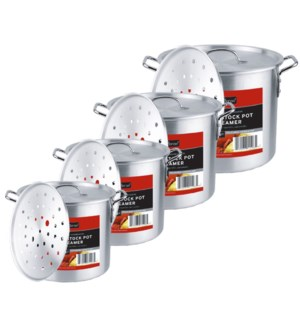 Alu.Stock Pot Set with Steamer ( 1 Set )