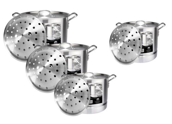 Alu. Stock Pot Set with Steamer ( 1 Set )