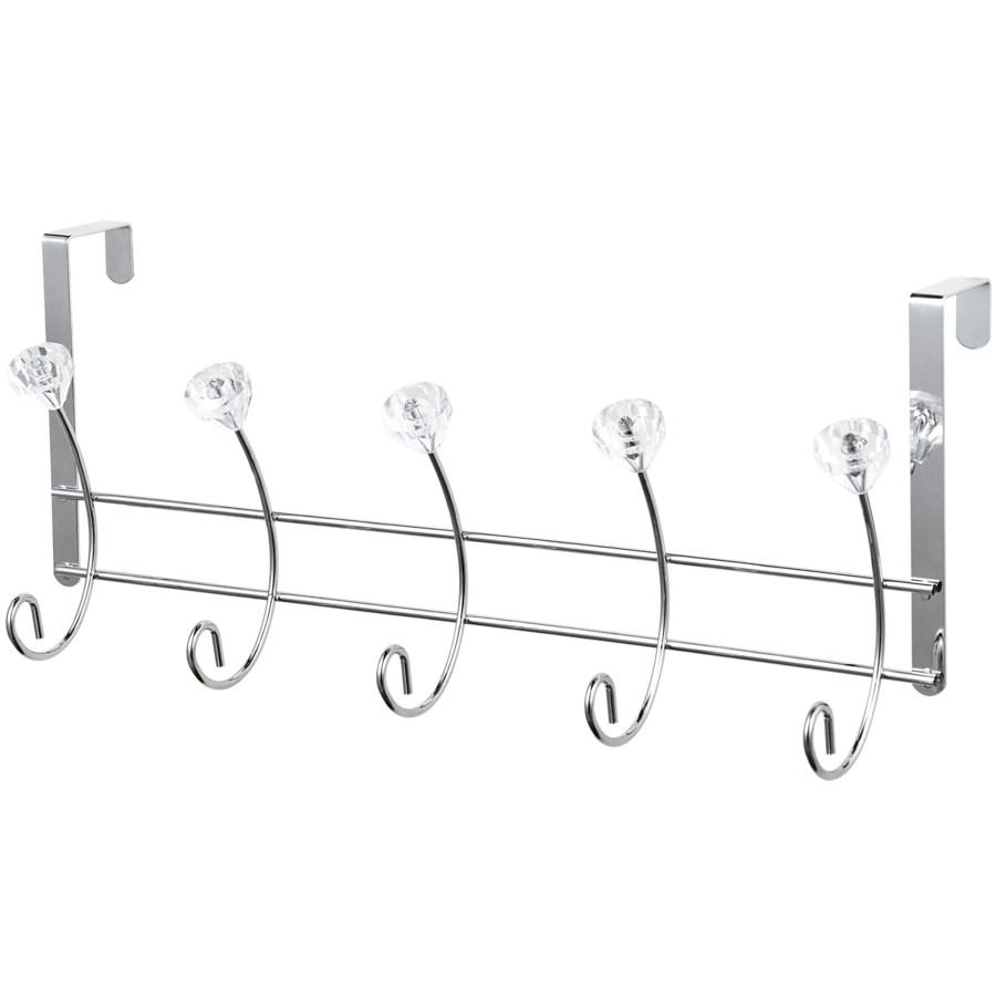 Chrome Over-the-Door Rack with crystal balls ( 12 )