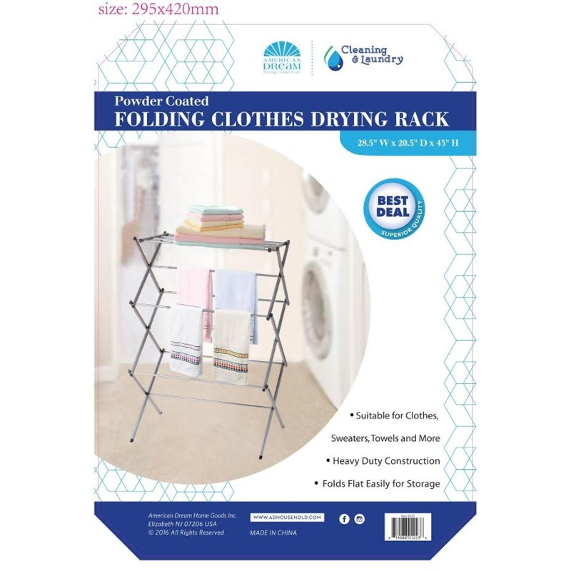 Silver- Clothing Dryer Rack (4)