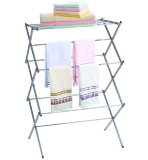 Silver- 3 Tier Folding Clothes Dryer Rack (4)