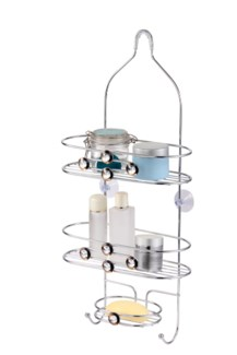 Chrome Shower Caddy with Diamond Decoration (12)